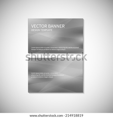 Business card silver design template. Vector banner design template. Corporate style design template. Vector illustration EPS10