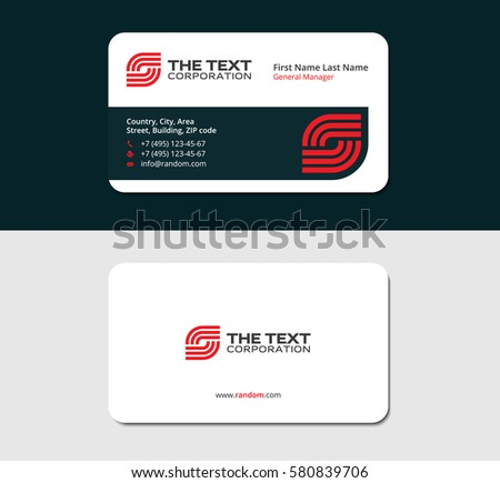 Two sided business card vector design download free vector art business card telecommunication red color two sided cards white background colourmoves