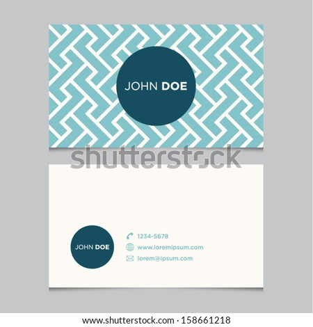 business card template  blue