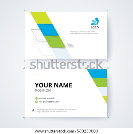 Business card template commercial design. vector illustration