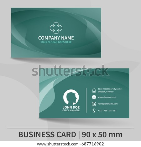 Business card template. Design for your individual or business presentation. Suitable for printing. Vector illustration.
