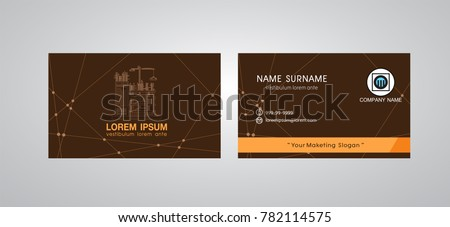 Business Card Template, Engineer Name card