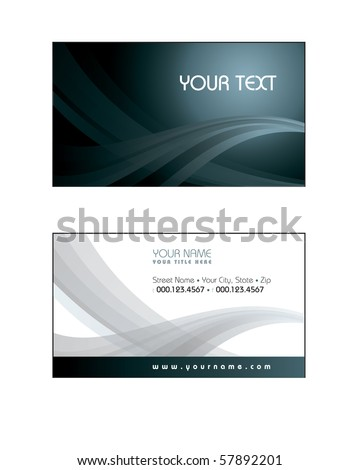 Business Card Template. eps10 format
