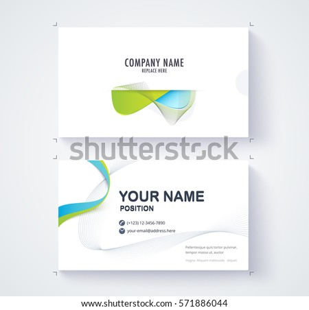 Business card template for corporate. Modern template card.