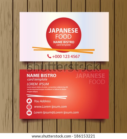 Business card template for restaurant business vector illustration business card template for restaurant business vector illustration wajeb Images