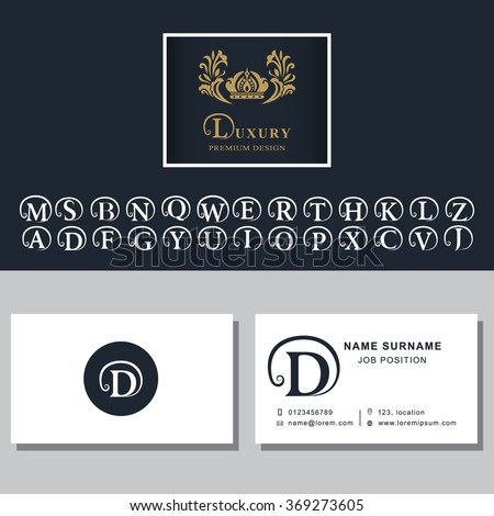 business card template letters