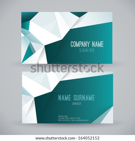 Name card template blue free vector download free vector art business card template name card abstract background vector illustration accmission