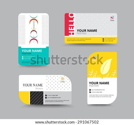 minimal business card template vector design illustration - Download ...