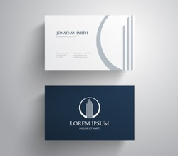 Business card template real estate, apartment, condo, house, rental, business. brand, branding, logotype, company, corporate, identity. Clean, modern and elegant  style design
