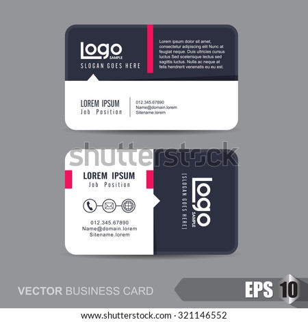Business Card Template Vector Illustration