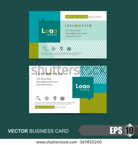 stock vector templates shop business cards illustration