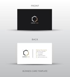 Business card template, vector illustration design