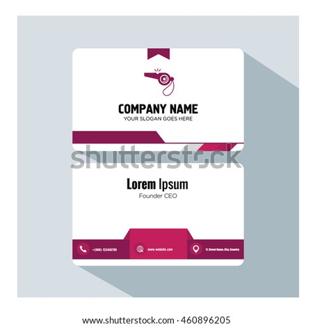 business card template whistle