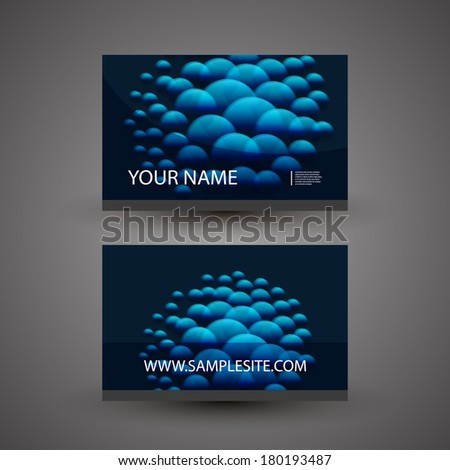 Business Card Template with Abstract Dotted Background