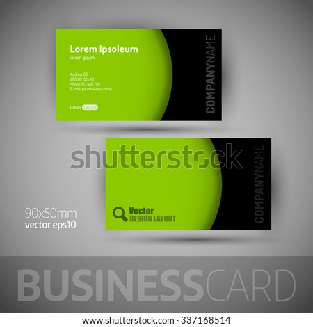 Business card template with sample texts. Elegant vector design elements.