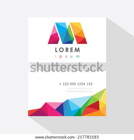 business card templates isolated on light background