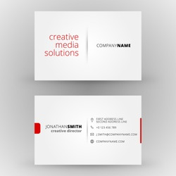 Business card vector background