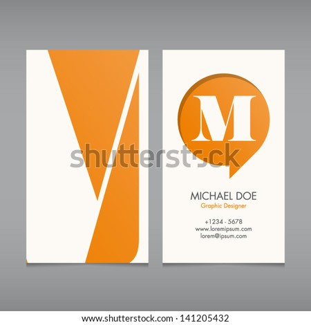 Business card vector template alphabet letter text color editable Font type typography retro vintage new style Ideal for independent worker company shop restaurant..