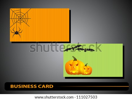 Business card with details of the gears on a gray background