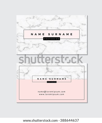 business card with marble