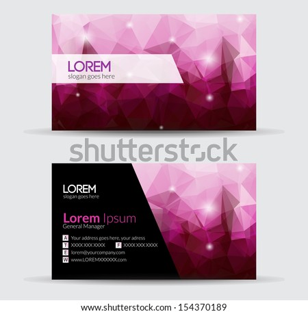 business cards   abstract
