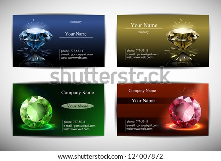 Green diamond creative business card download free vector art business cards are templates red blue yellow and green background diamond in colourmoves