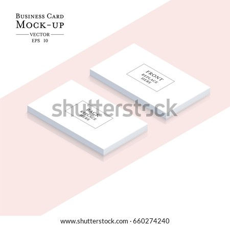 Simple pink business card template vector design illustration business cards blank mockup template vector design reheart Images