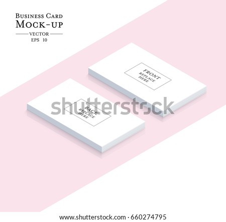 Blank business card mockup presentation design download free business cards blank mockup template vector design reheart Choice Image