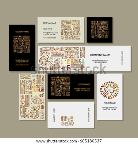 business cards design  ethnic...