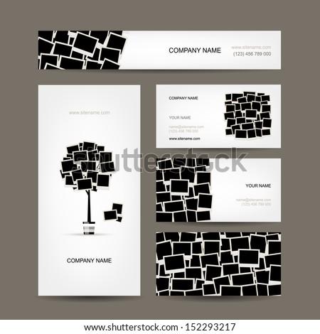 Business cards design, photo frames