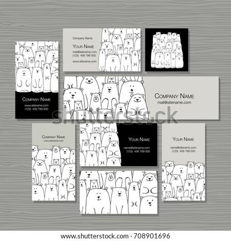 business cards design  polar