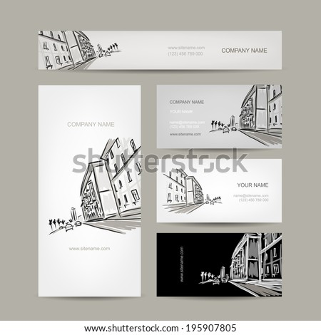 business cards design with
