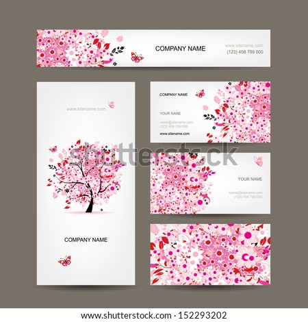 Flower business cards choice image business card template floral business card template vector download free vector art premium vectors colourmoves choice image flashek Choice Image