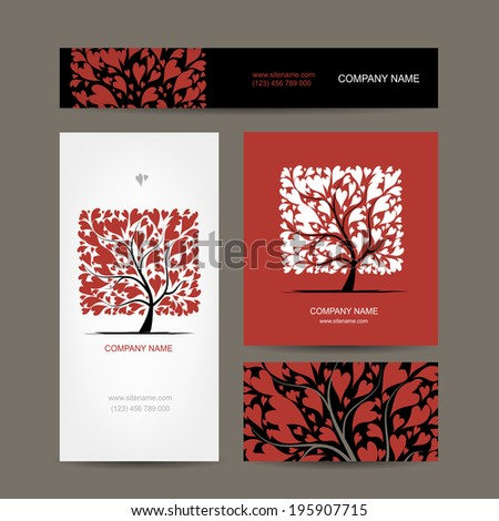 business cards design with love