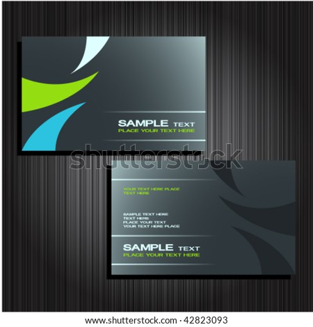 business cards set 25