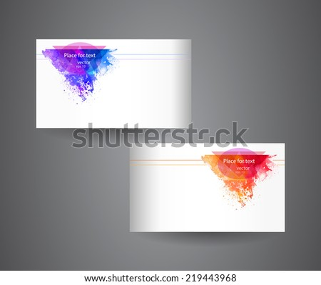Creative splatter business card business vector design illustra business cards template abstract spray paint colorful watercolor colourmoves