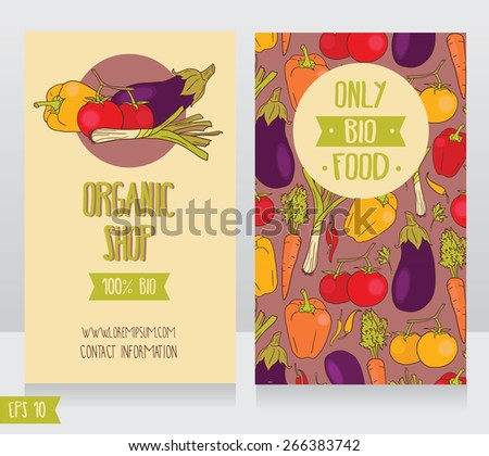 Organic food business template download free vector art stock business cards template for organic foods shop or vegan cafe vector illustration flashek Gallery