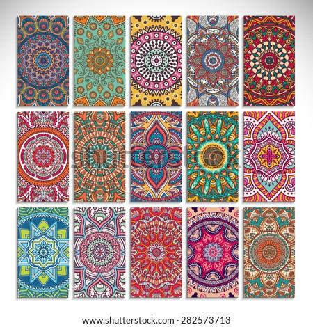 vintage decorative elements hand drawn background islam arabic indian circular pattern