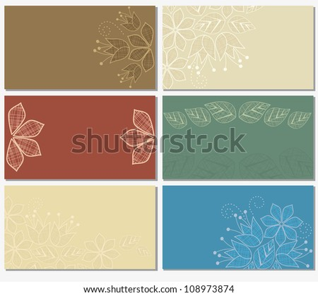 business cards with a floral motif