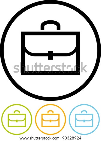 Business case - Vector icon isolated on white
