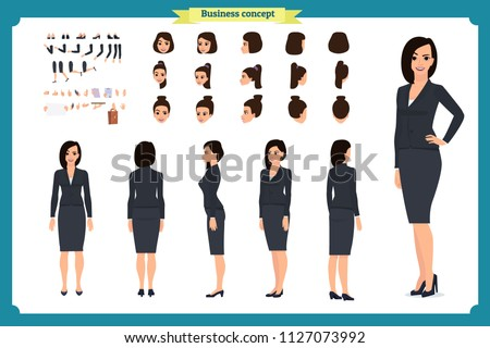 business casual fashion front