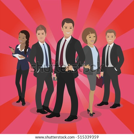 Business celebrity silhouette on red carpet. Male female People posing vector illustration