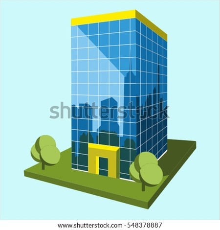 business center 3d full vector