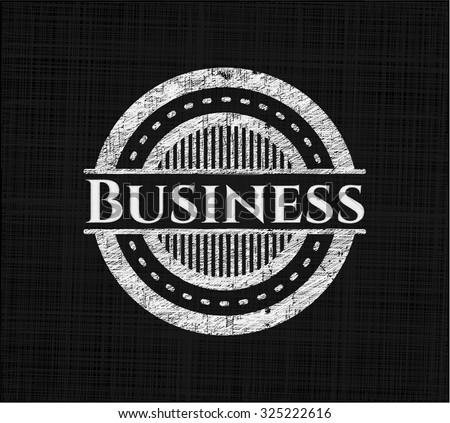 Business chalk emblem