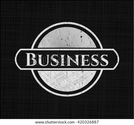 Business chalkboard emblem