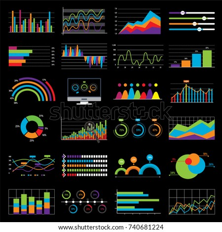 business chart and graph data