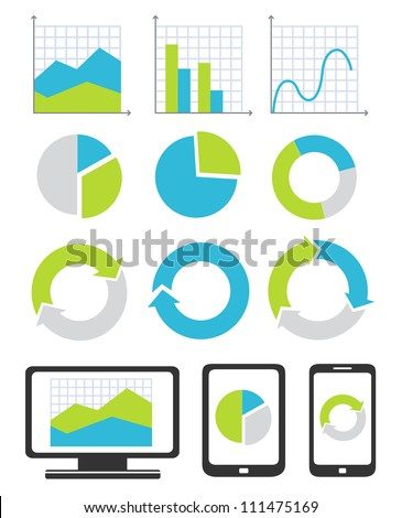 Business chart and graph icons