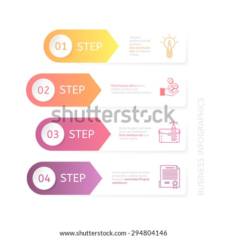 Business charts for various illustrations.
