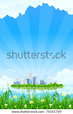 business city landscape with