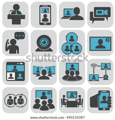 Business communication. Video conference. #490150387